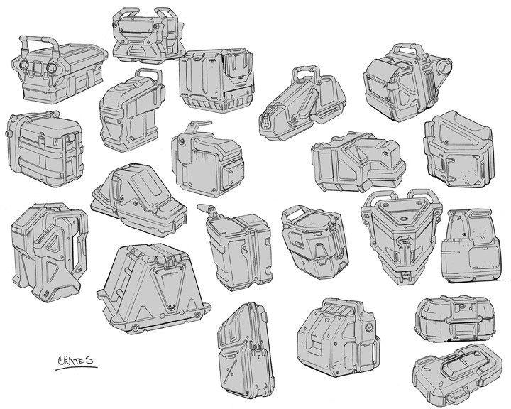 Sci Fi Backpack Concept Art