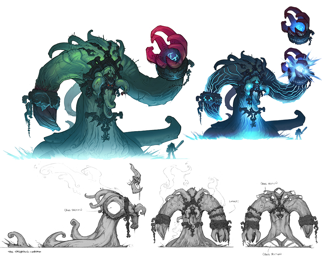 Definition Of Character Design : Darksiders bosses